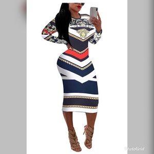 NEW Women's Midi Bodycon Printed Dress 🥰💋